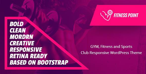Fitness Point – WordPress Theme for Gym
