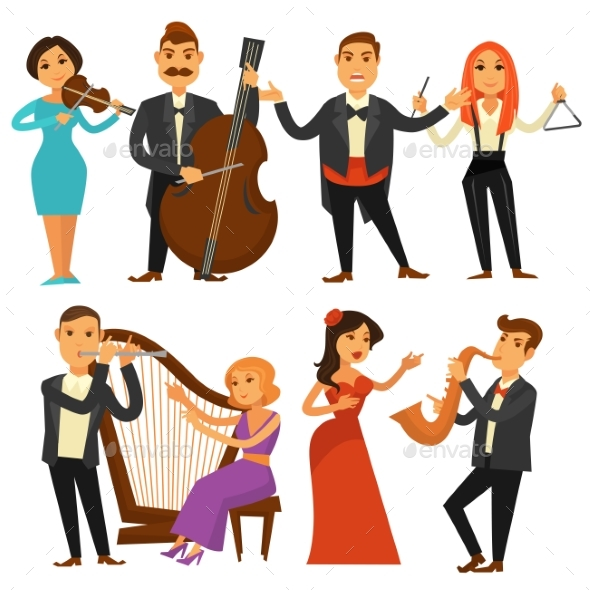 Orchestra Singers and Musicians - People Characters