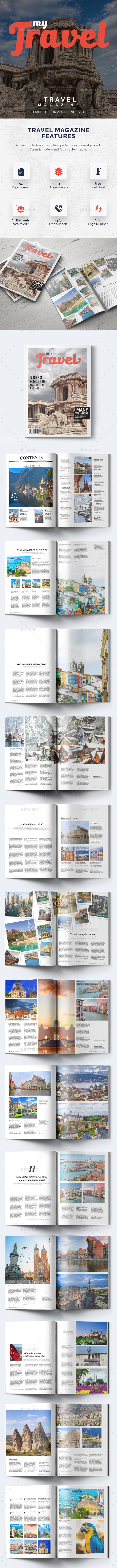 My Travel - 53 Pages Magazine Template - Magazines Print Templates