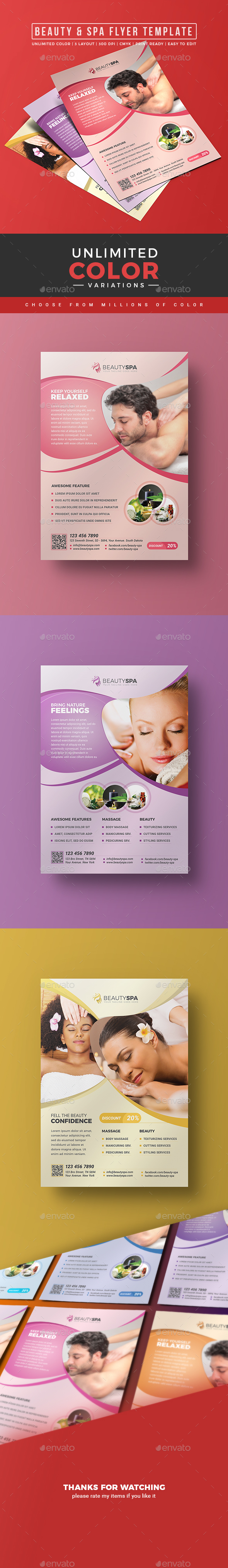 Spa Flyer / Beauty Flyer - Corporate Flyers