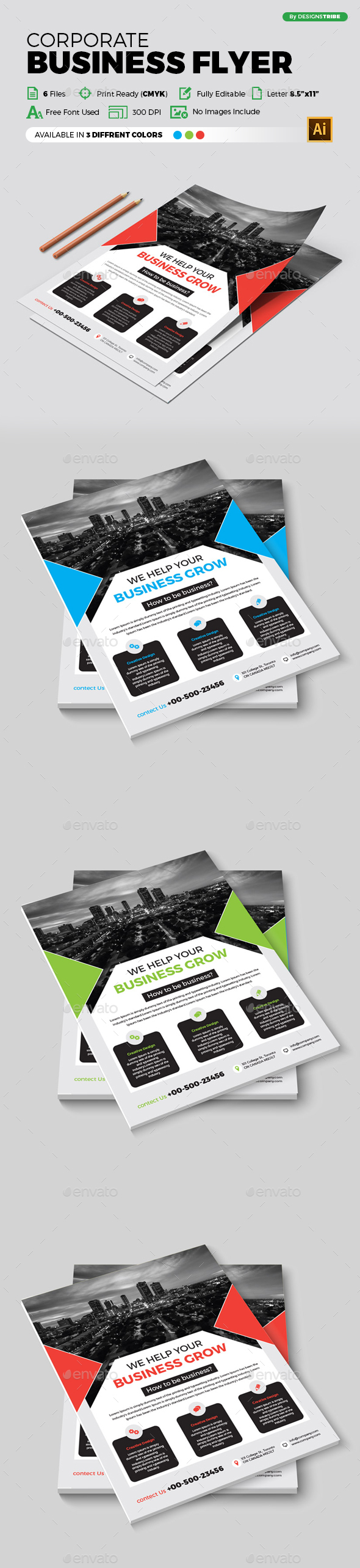 Flyer – Multipurpose 322 - Flyers Print Templates