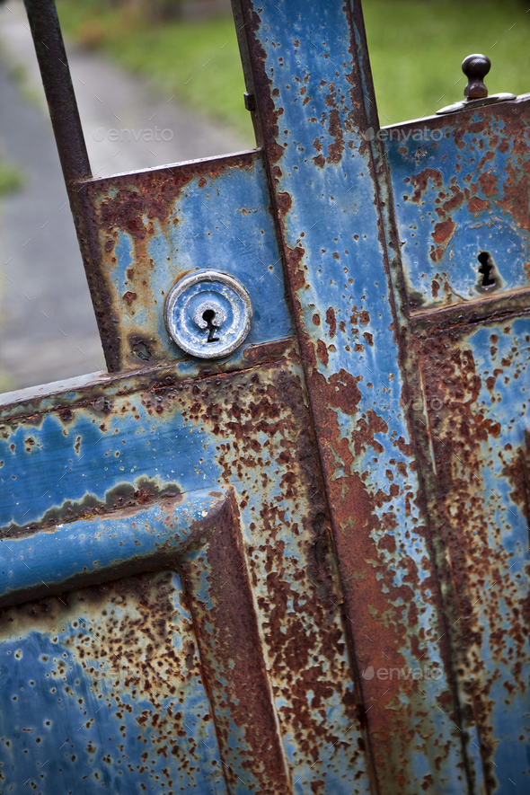 Lock of a gate - Stock Photo - Images