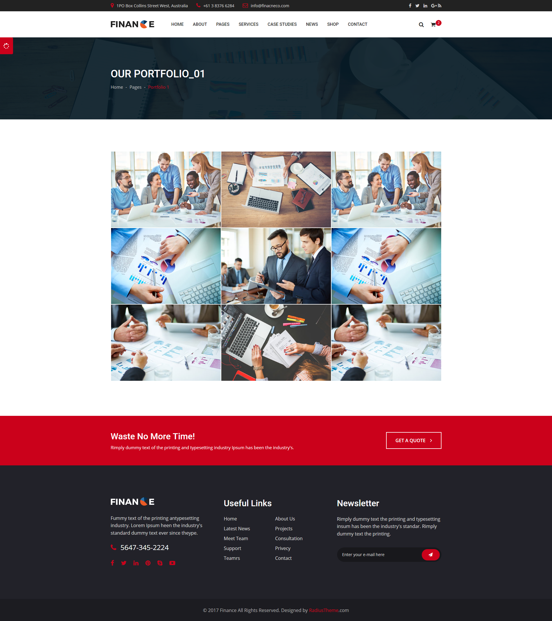 Finance Finance Corporate And Business Html Template By Radiustheme