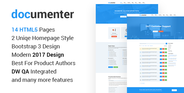 Documenter – All in One Support, Knowledgebase, Documentation Website HTML5 Template