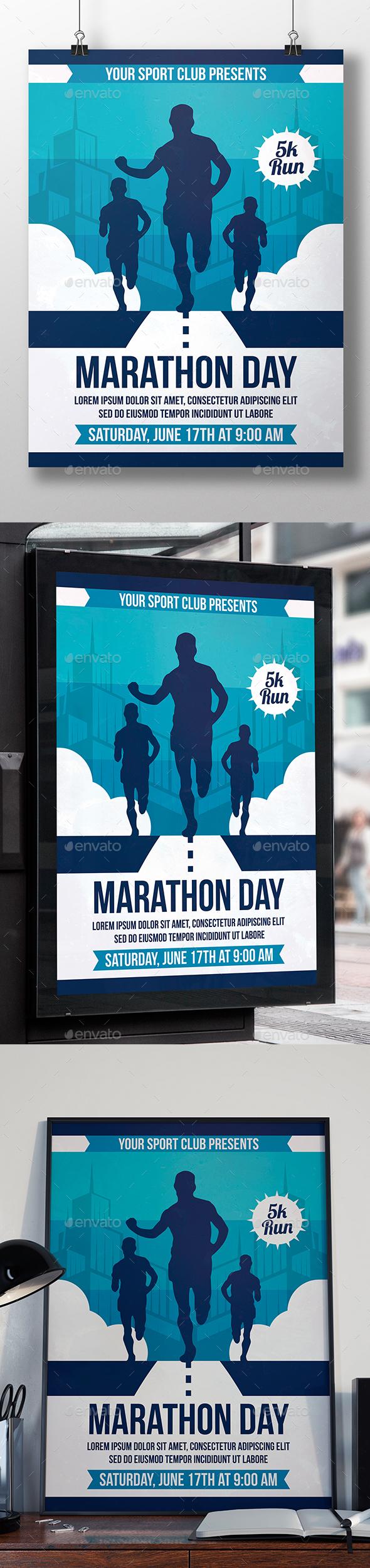 City Marathon Flyer Template - Sports Events
