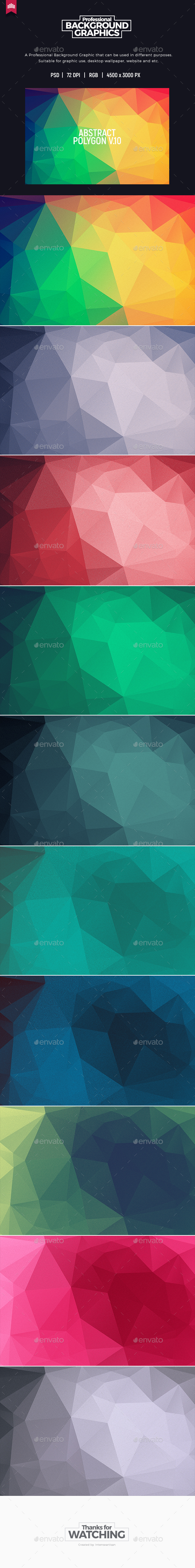 Abstract Polygon V.10 - Background - Abstract Backgrounds