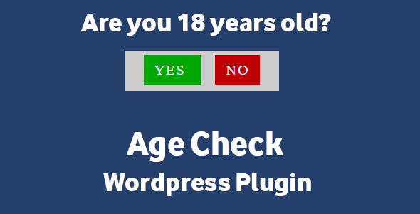 Age Check - Wordpress Plugin - CodeCanyon Item for Sale