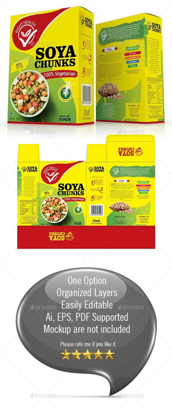 Soya Chunk Packaging Template - Packaging Print Templates