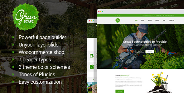 Greenscape - Lawn & Garden Landscaping WordPress Theme
