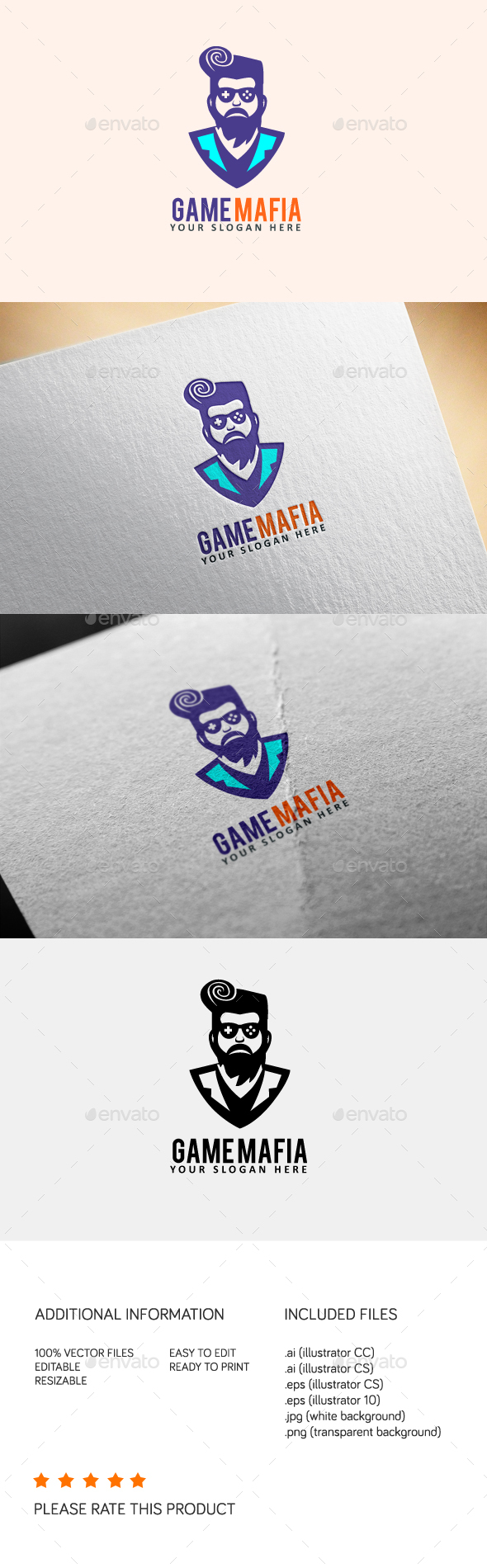 Game Mafia - Humans Logo Templates