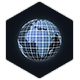 Looped Glowing Globe with Grid - VideoHive Item for Sale