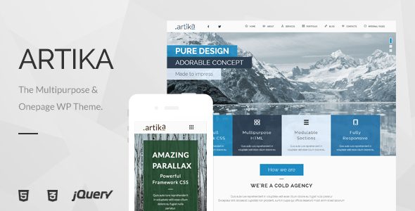 Artika – Multipurpose & Onepage WP Theme