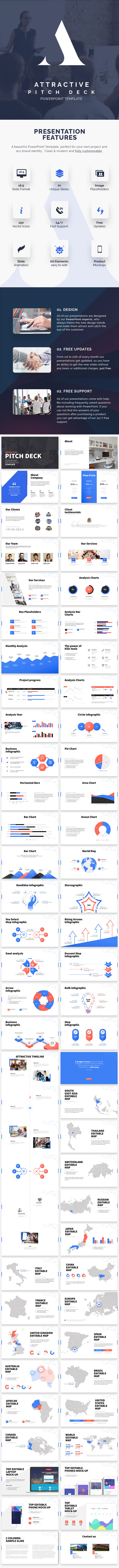 Attractive Pitch Deck - PowerPoint Presentation - Business PowerPoint Templates