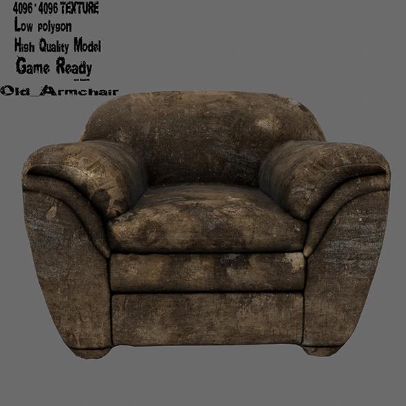 Armchair 10 - 3DOcean Item for Sale