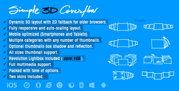 Simple 3D Coverflow - CodeCanyon Item for Sale