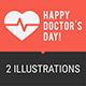 Concept Doctors Day People Doctors Ambulance Car Part 1 - GraphicRiver Item for Sale