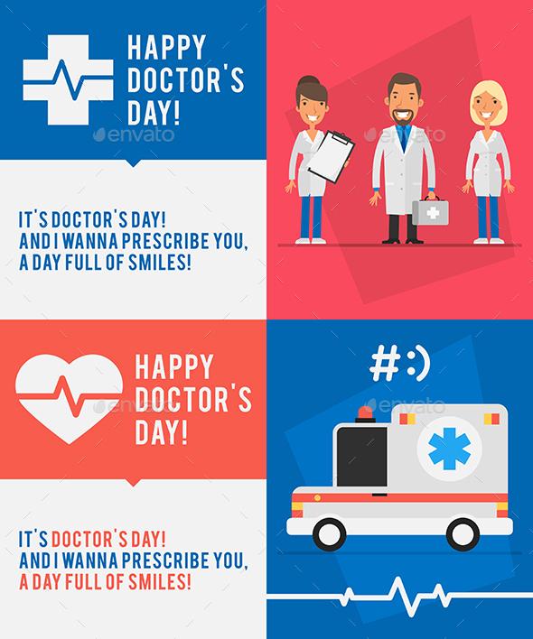 Concept Doctors Day People Doctors Ambulance Car Part 2 - Health/Medicine Conceptual