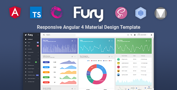 Fury - Angular 5 Material Design Admin Template