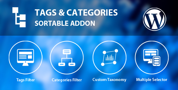 Tags & Categories Sortable Addon - CodeCanyon Item for Sale