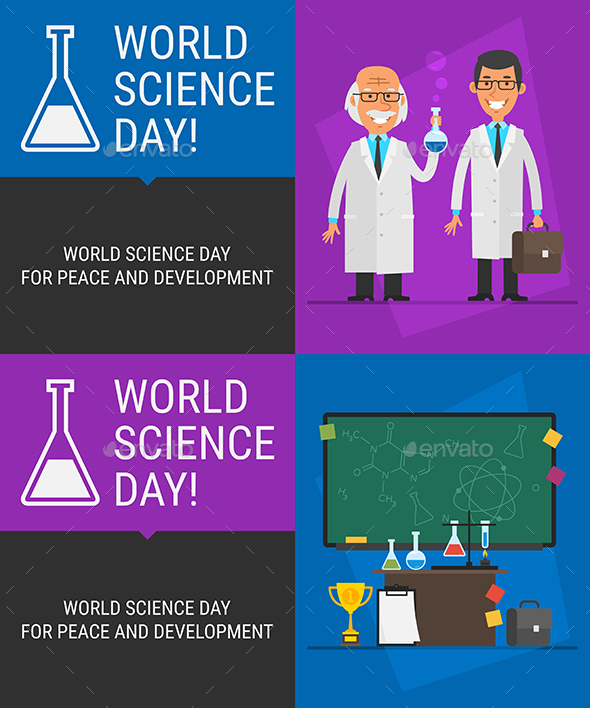 Concept World Science Day People Science Different Objects - Miscellaneous Seasons/Holidays