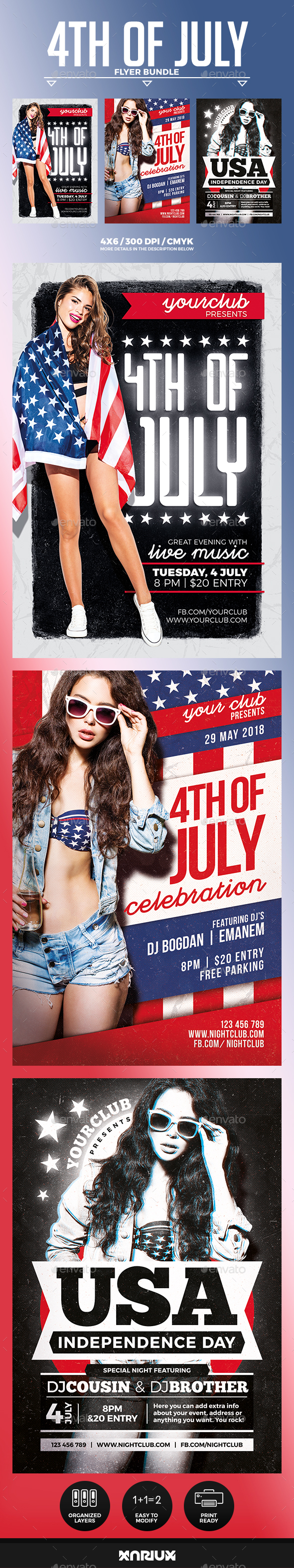 4th of July Flyer Bundle - Events Flyers