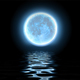 Blue Moon Over Sea - VideoHive Item for Sale