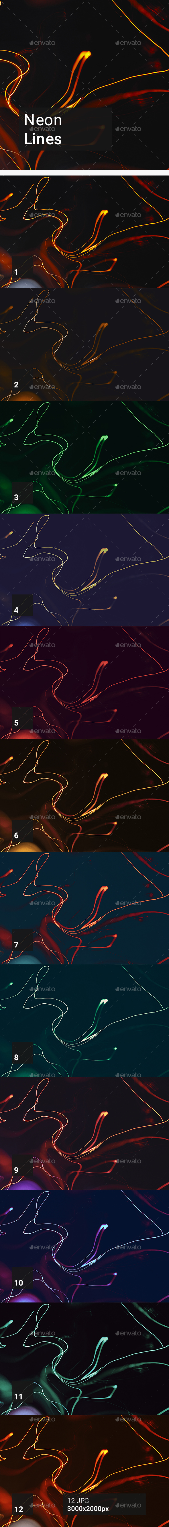 Neon Lines Backgrounds - Abstract Backgrounds