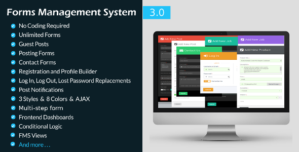 Forms Management System-WordPress Frontend Plugin - CodeCanyon Item for Sale
