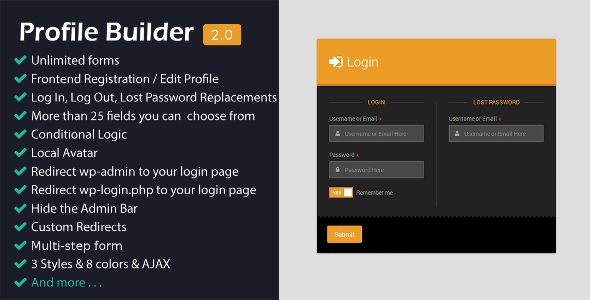 Profile Builder for Forms Management System - CodeCanyon Item for Sale