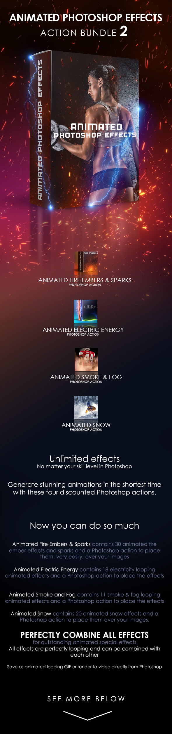 Animated Photoshop Effects Action Bundle 2 - Photo Effects Actions