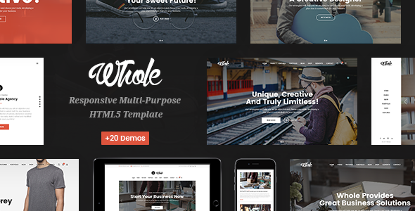 Whole - Responsive Multi-Purpose HTML5 Template - Business Corporate
