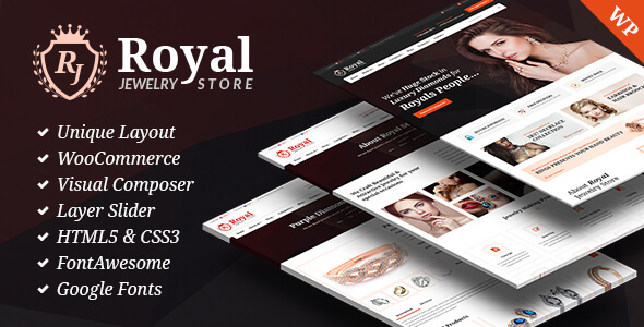 royal jewelry wordpress responsive theme (woocommerce) Royal Jewelry WordPress Responsive Theme (WooCommerce) preview 01
