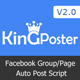 King poster | Facebook multi Group / Page auto post - PHP script - CodeCanyon Item for Sale