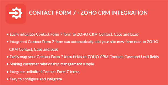 Contact Form 7 - ZOHO CRM Integration - CodeCanyon Item for Sale