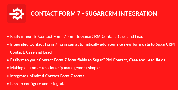 Contact Form 7 - Sugar CRM Integration - CodeCanyon Item for Sale