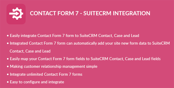 Contact Form 7 - Suite CRM Integration - CodeCanyon Item for Sale
