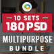 Multipurpose Banners Bundle - 10 Sets - 180 Banners - GraphicRiver Item for Sale