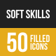 Soft Skills Filled Low Poly B/G Icons