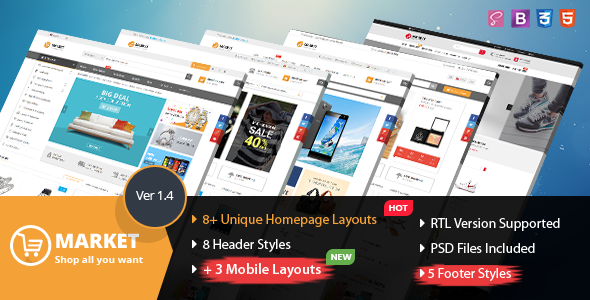 Market - Multipurpose eCommerce HTML Template - Shopping Retail