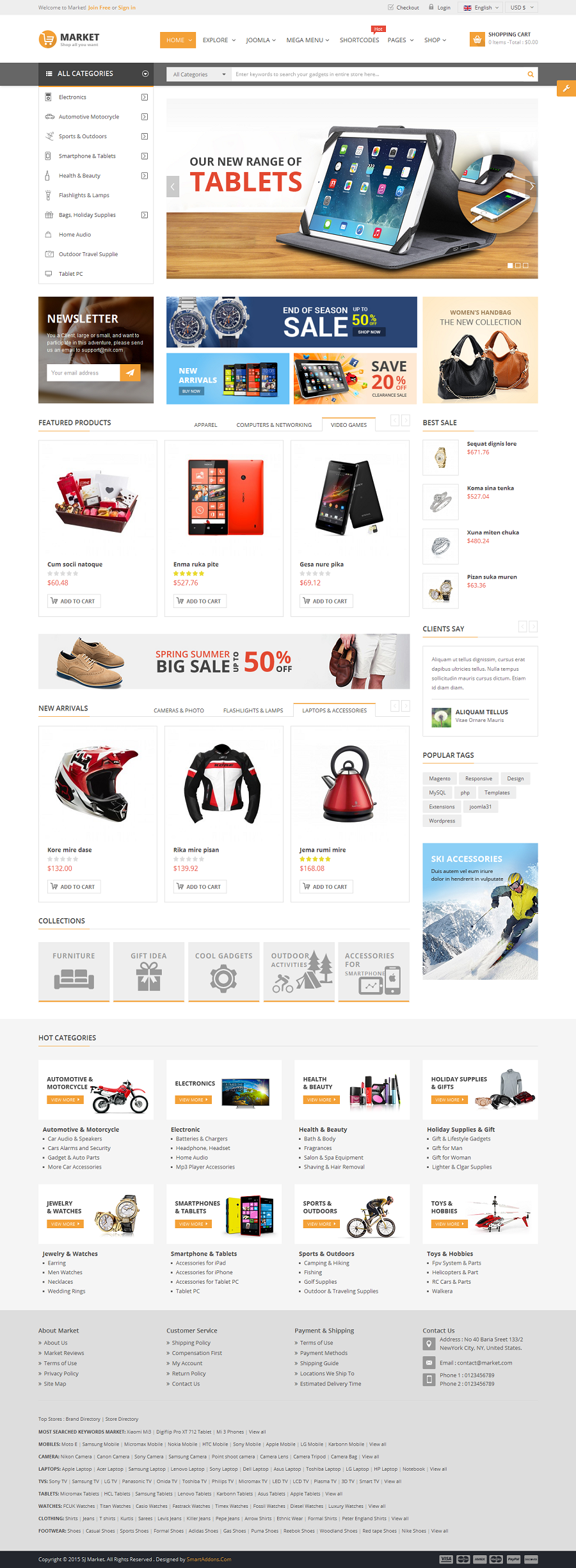 Market Multipurpose Ecommerce Html Template By Magentech