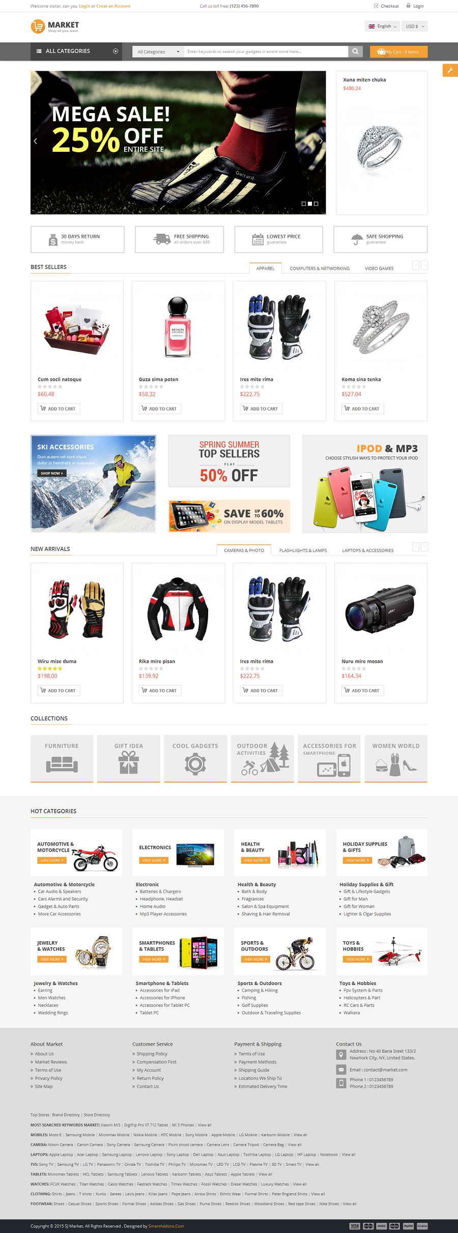 Market multipurpose ecommerce html template