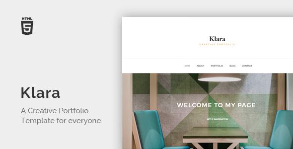 Klara – Minimal Creative Portfolio