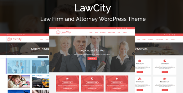 LawCity – Law Firm and Attorney WordPress Theme
