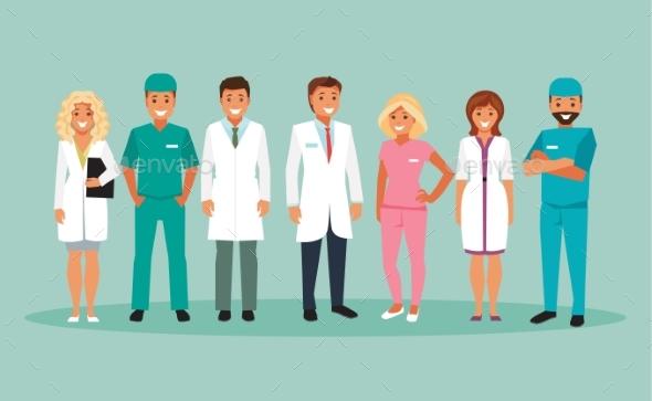 Group of Doctors - Health/Medicine Conceptual