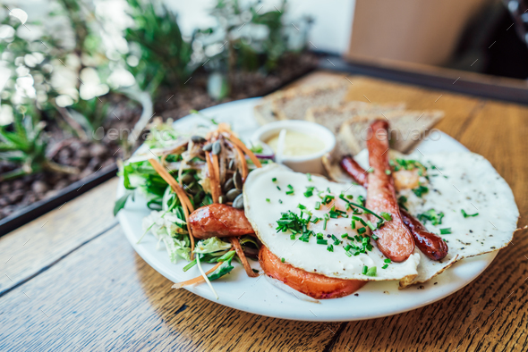 Breakfast on the plate - Stock Photo - Images