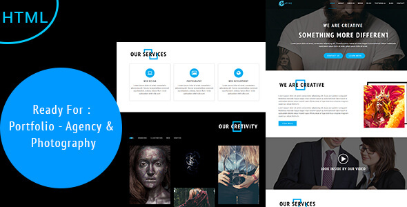 Creative - Agency, Photography & Portfolio Template
