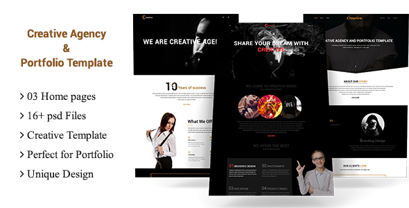 Creative Agency and Portfolio Multipurpose Template
