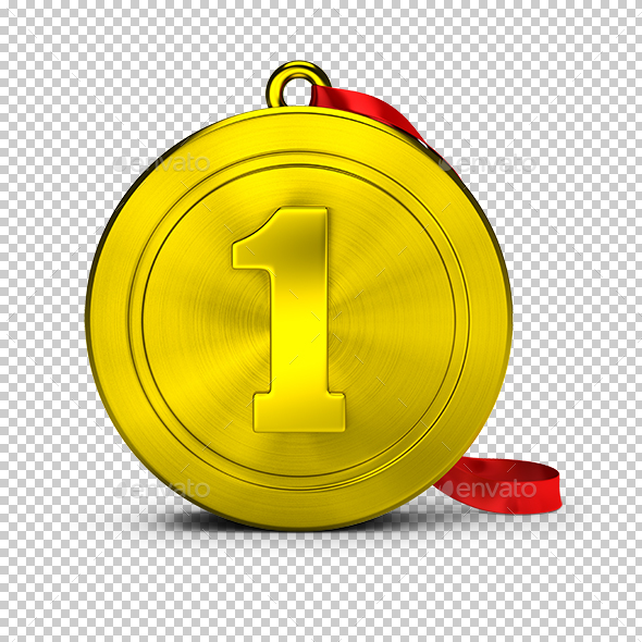 Gold Medal - Objects 3D Renders