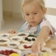 Little Girl Reaching for Berries on Muffins - VideoHive Item for Sale