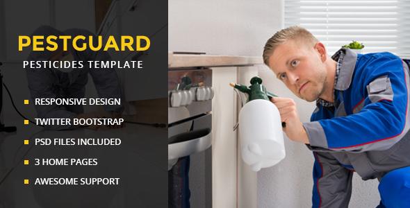 PestGuard - Responsive Pest Control HTML Template - Business Corporate